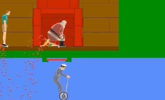 Careful what you wish for in Happy Wheels.
