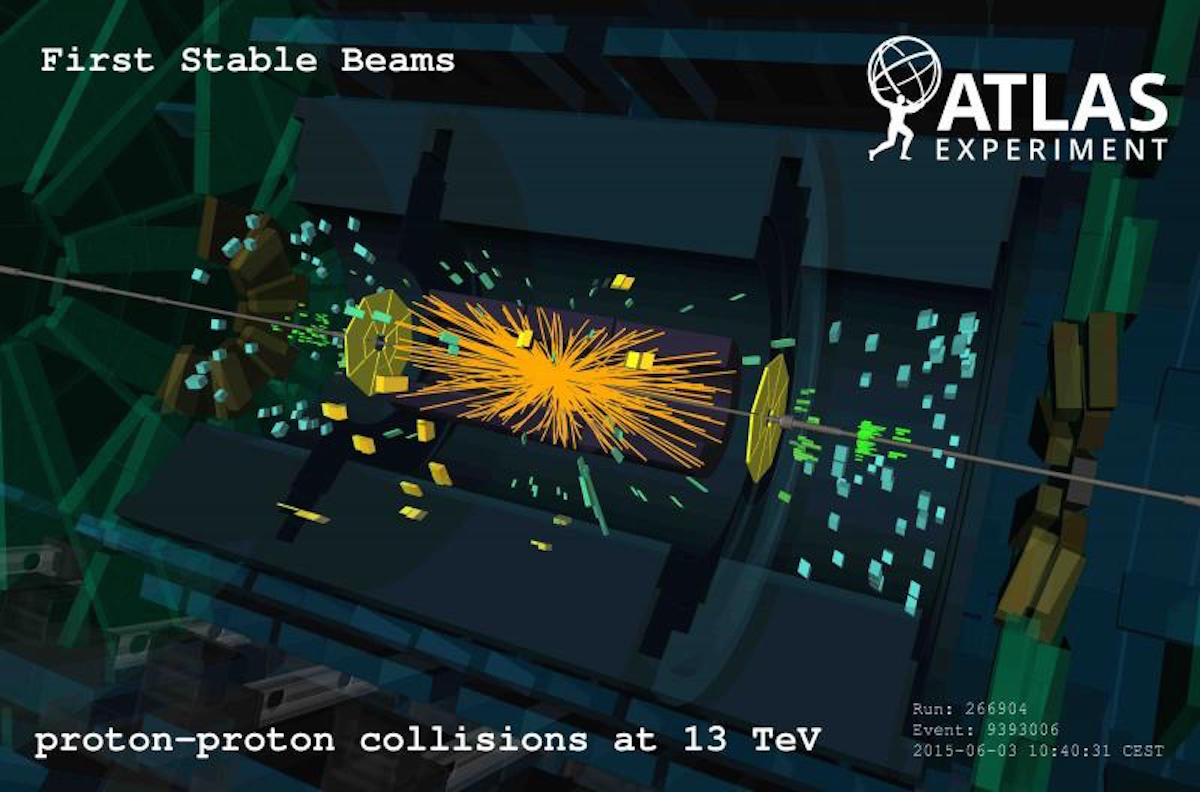 Large Hadron Collider first stable beams