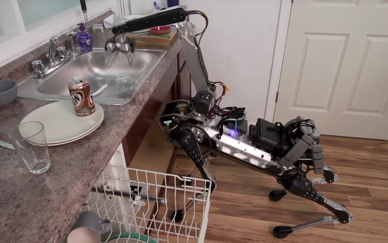 The SpotMini, which can use its extendable 'neck' to do things like load the dishwasher
