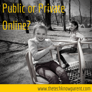 Public or Private info online cybersafety kids online
