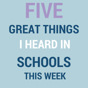 great things happening in schools this week