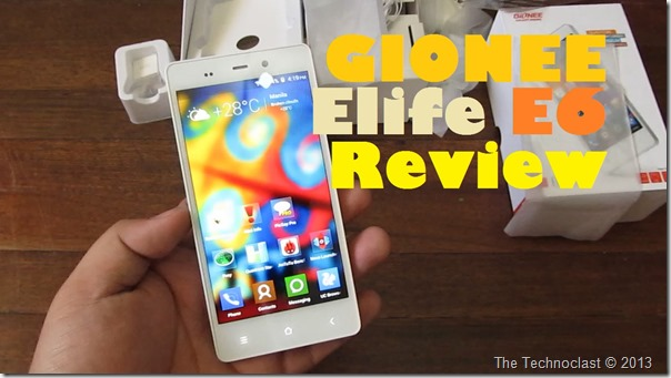 GioneeElifeE6Review