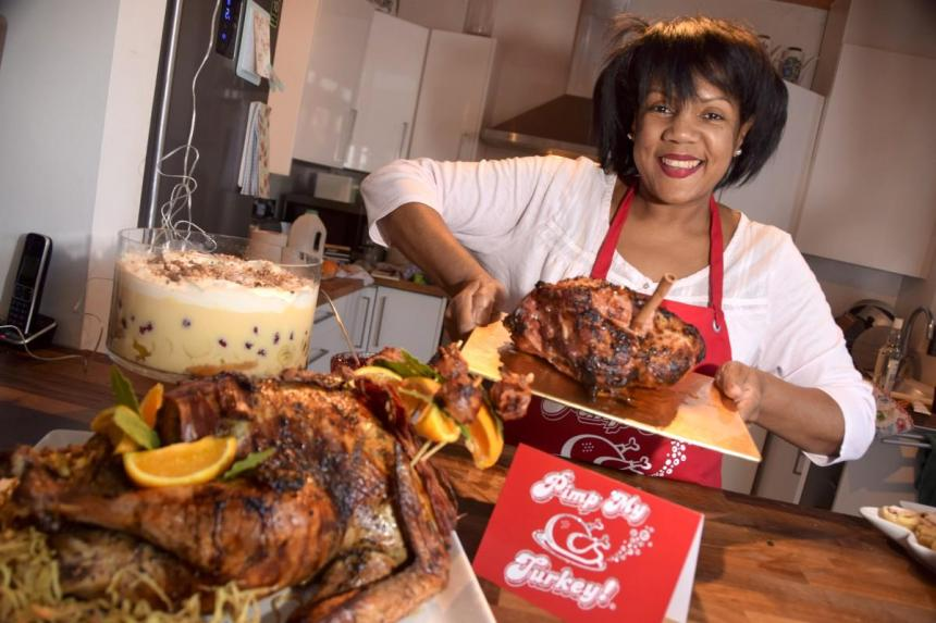 Mumpreneur: Elaine Buchanan with her 'pimped' Christmas dishes