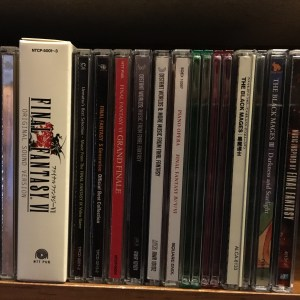 My small-ish collection of Final Fantasy music discs. I have a few other releases in digital only format.