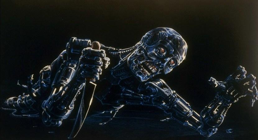 Terminator Endoskeleton concept Art by James Cameron