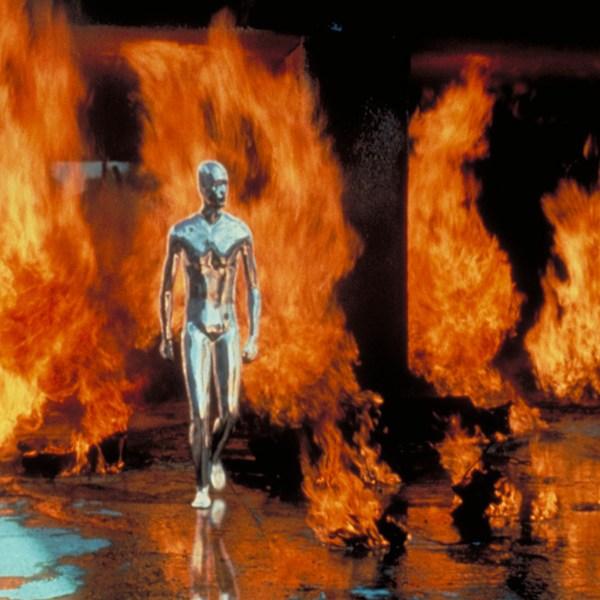 T-1000 walks through fire