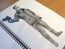 Aging Terminator Pencil Drawing