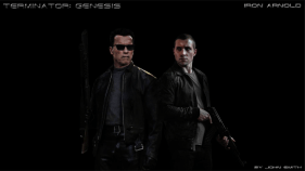 T-800 and Kyle Reese Terminator Genesis Fan Art