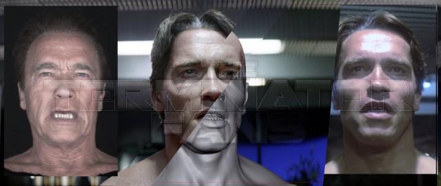 Arnold Schwarzenegger Terminator Genisys CGI T-800