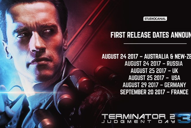 Terminator 2: Judgment Day 3D Russia Release Date