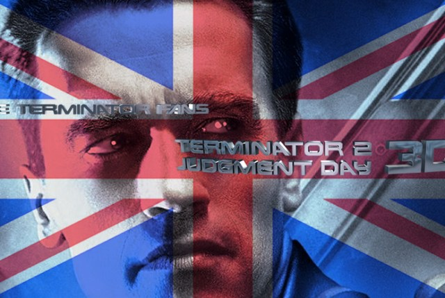 Terminator 2 3D Theatrical Release UK England Ireland Scotland