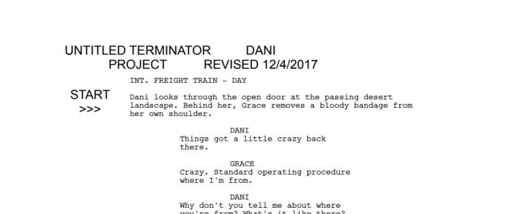 Terminator Project Audition Script