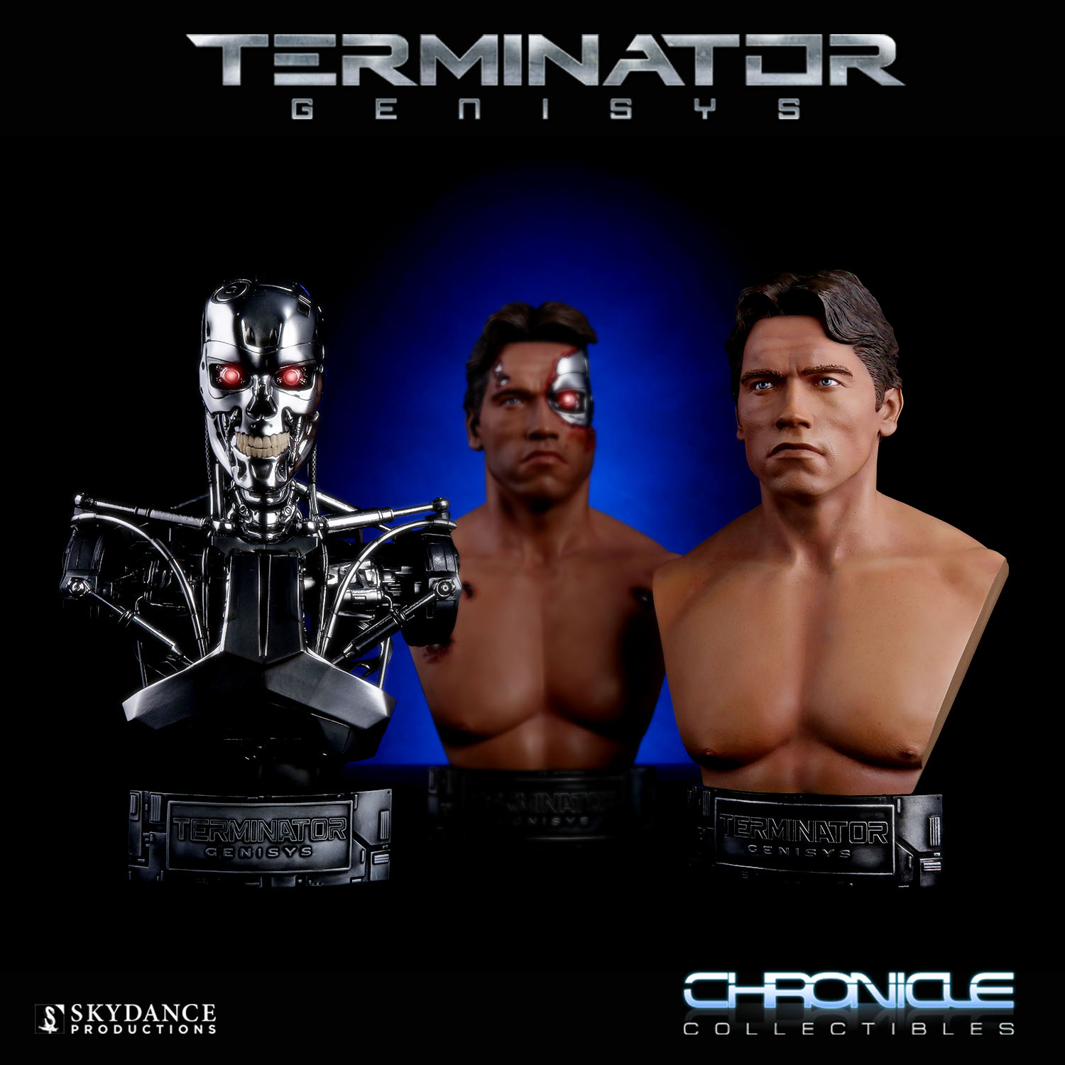 Terminator Genisys 1:2 Scale T-800 Endoskeleton Bust Pre-Order