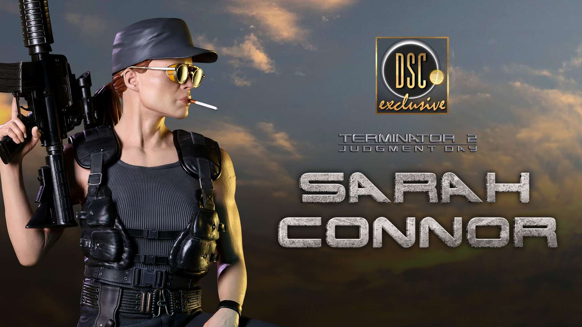 Sarah Connor Terminator 2 Judgment Day 30th Anniversary Exclusive Edition Premium 1/3 Scale Statue by Darkside Collectibles Studio