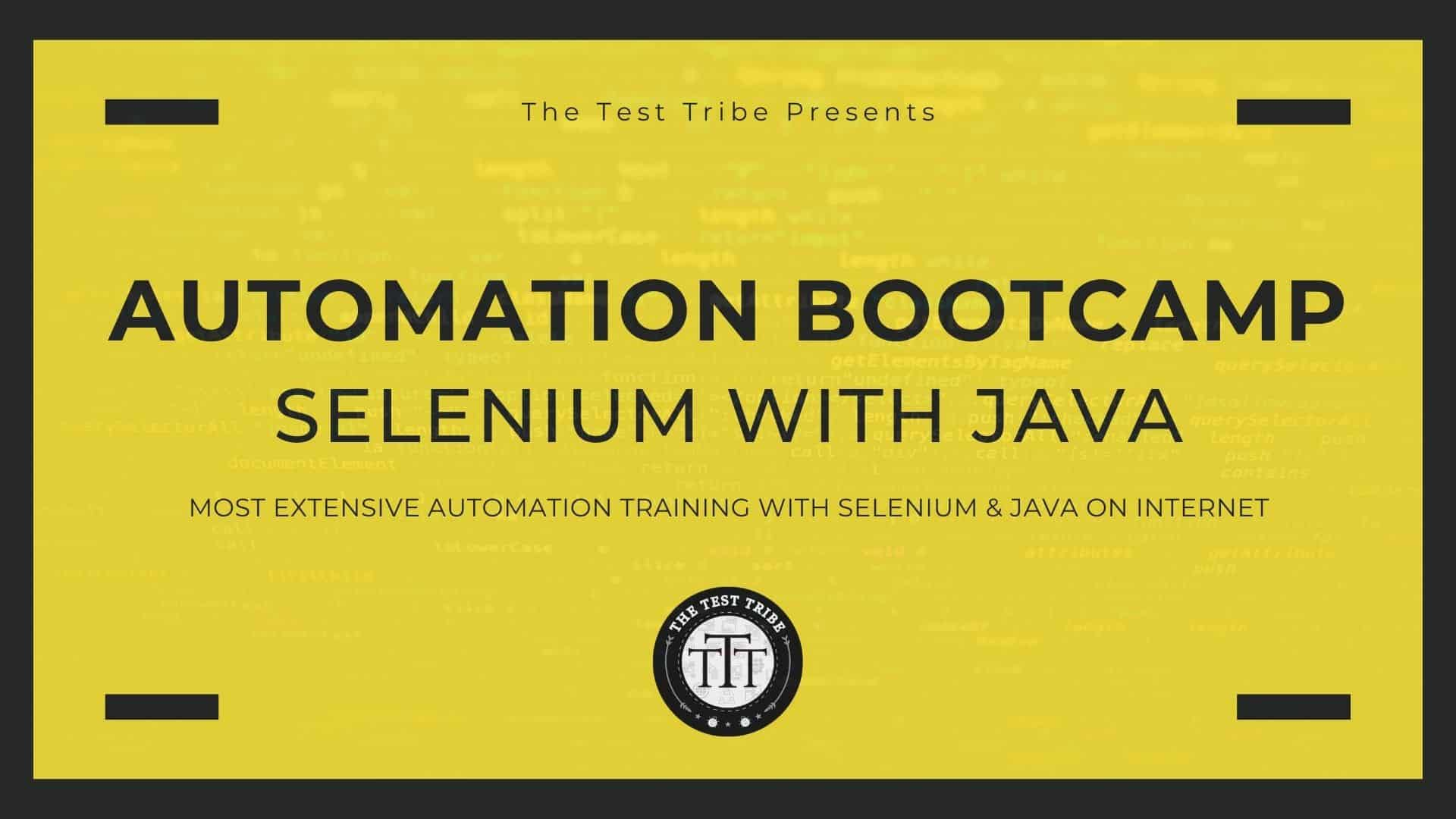 best automation training automation bootcamp with selenium java the test tribe