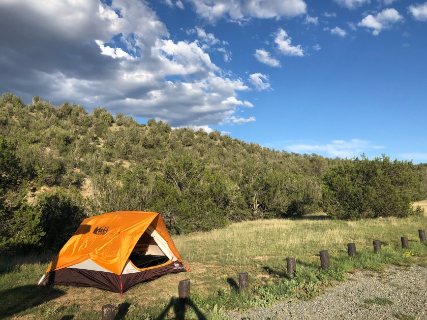 Our campsite at the Cave Canyon Campground in Lincoln, New Mexico