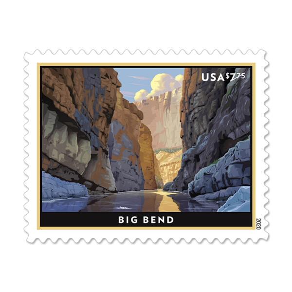 USPS Big Bend Postage Stamp
