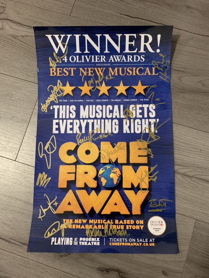 win a come from away poster signed