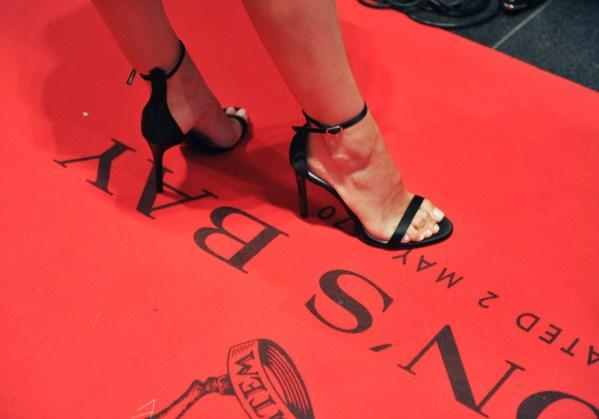 Natalie Portman on the Hudson's Bay striped carpet at TIFF Bell Lightbox during the Toronto International Film Festival on September 9, 2015. Photo credit: George Pimentel