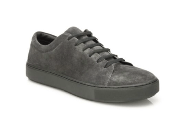 Vince Perforated Suede Leather Sneakers