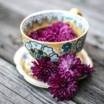 cup of floral tea