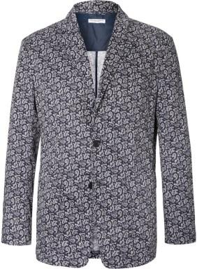 Engineered Garments Blue Baker Slim-Fit Paisley-Print Cotton Voile Blazer