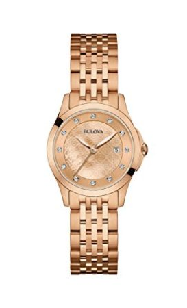 Bulova Women's 97P112 14mm Rose Gold Watch Bracelet