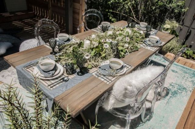 Urban Barn table, chairs and tableware