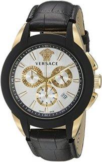 Versace Men's VQN030015 Character Analog Display Quartz Black Watch