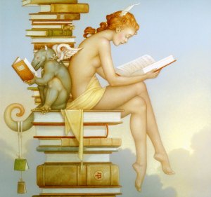 Ex Libris, courtesy of Michael Parkes