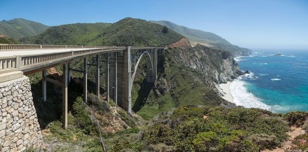 Bixby Creek Bridge, Big Sur, California via Wikimedia Commons