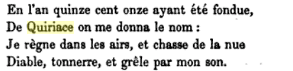 st. quiriace inscription, a pilgrimage to auvergne