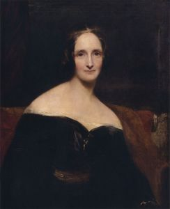 A portrait of Mary Shelley via Wikimedia Commons.
