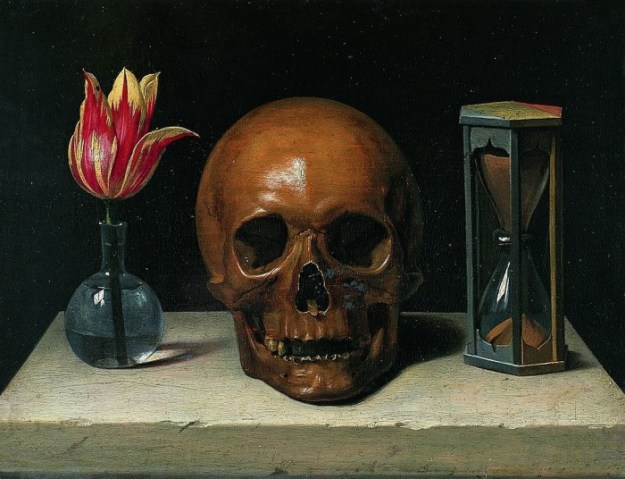 Still-Life with a Skull by Philippe de Champaigne via Wikimedia Commons.