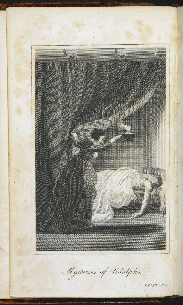 "Image from ""The Mysteries of Udolpho"" by Ann Radcliffe via The British Library."