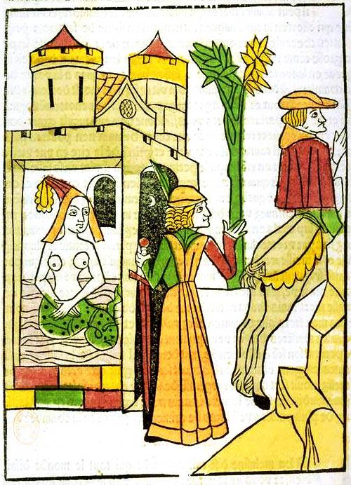 Illustration from the Jean d'Arras work, Le livre de Mélusine (The Book of Mélusine). Photo via Wikimedia Commons.