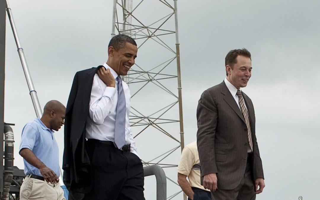 Elon Musk avec le President Barack Obama