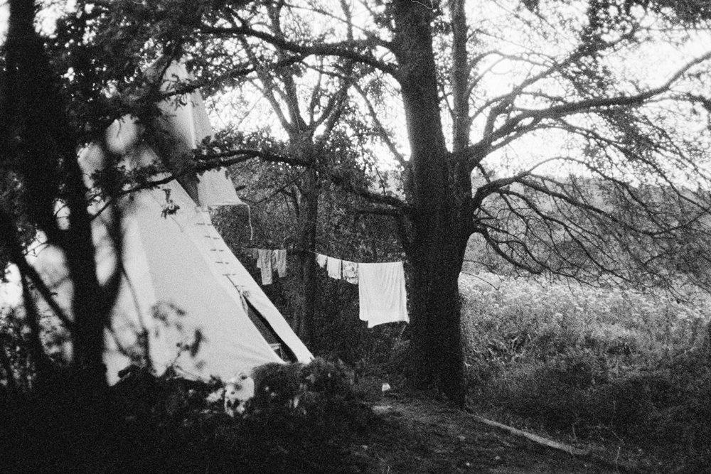 White tipi, Hungary.
