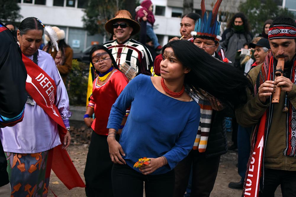 Nina Gualinga, indigenous activist from Sarayaku, Kichwa Tribe in Ecuador.