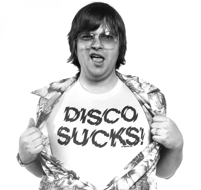DISCO DEMOLITION DISC JOCKEY STEVE DAHL IN 1979