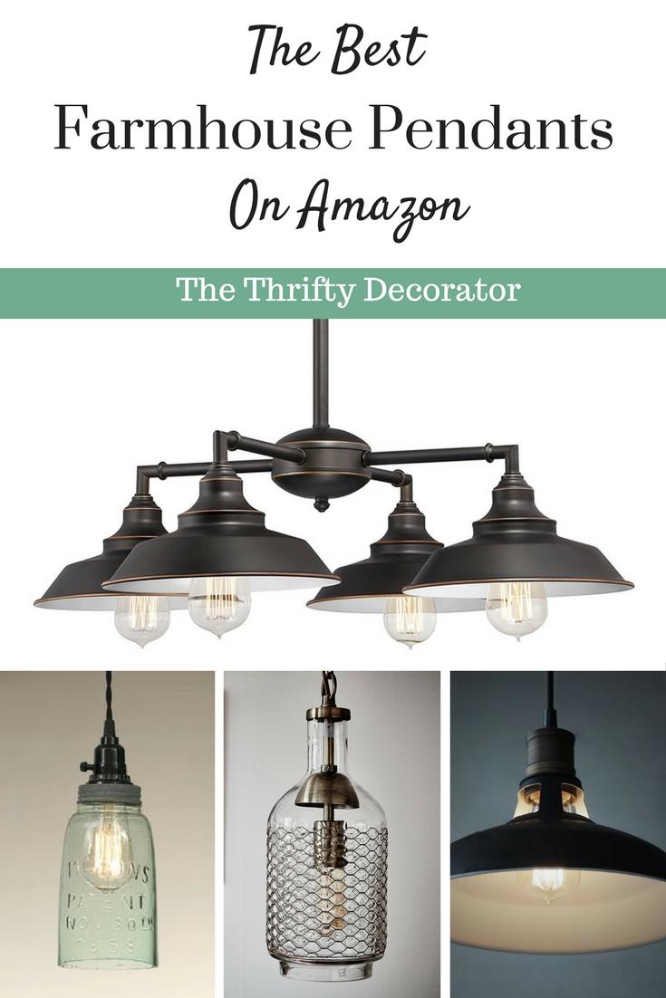 best farmhouse pendant lights under