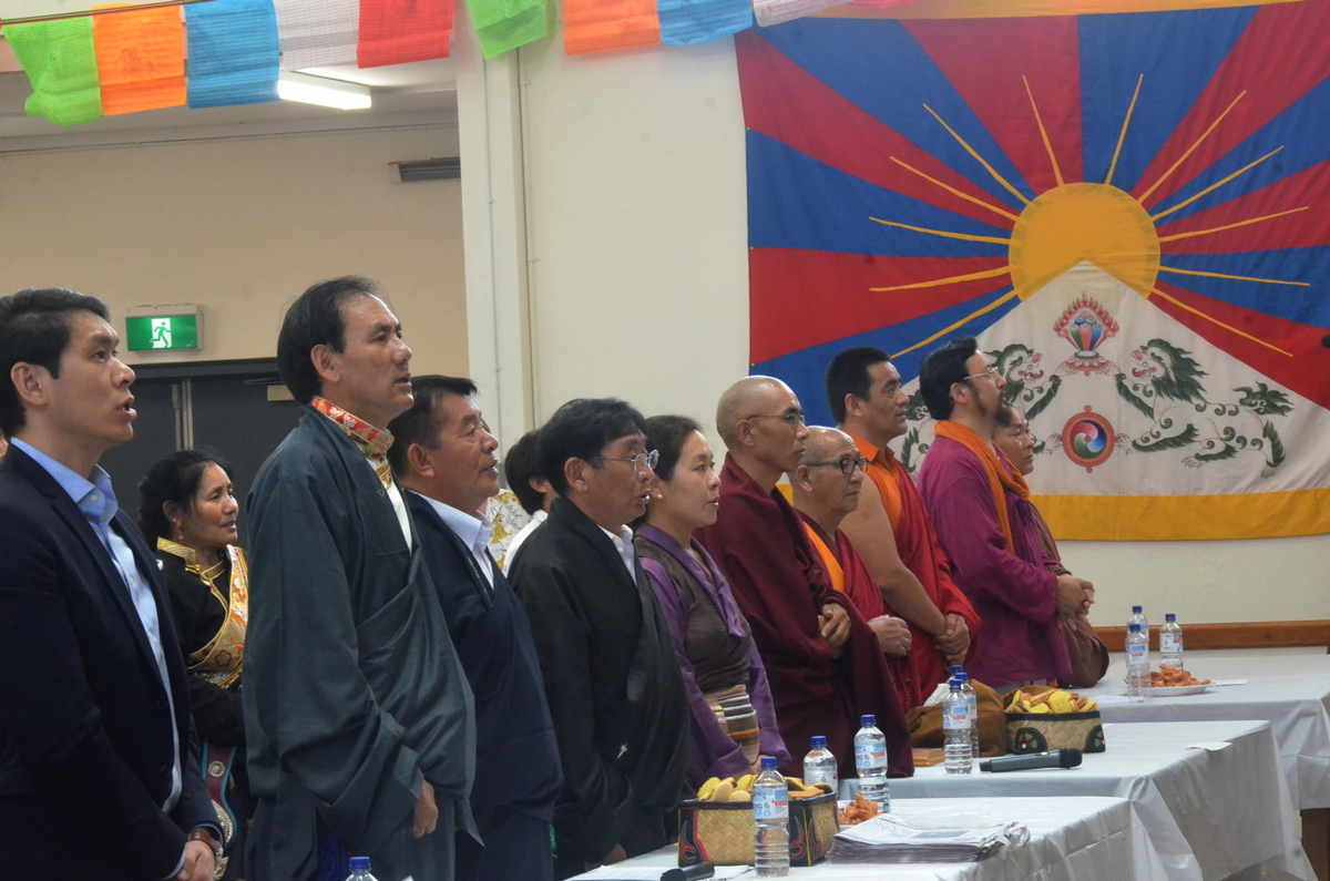 Tibetans in in Sydney, New South Wales, Australia, observe an official function to mark the 29th anniversary of the conferment of Nobel Peace Prize on His Holiness the Dalai Lama, on December 15, 2018. Photo: TPI/Yeshe Choesang