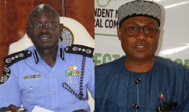 Sulieman Abba, Police IG and Dr Davies Ibiamu Ikanya, Rivers State APC Chairman