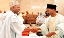 Image result for Gov Dankwambo swears in new Permanent Secretaries