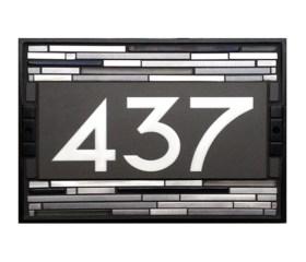 9″x 14″ Black Aluminum 3