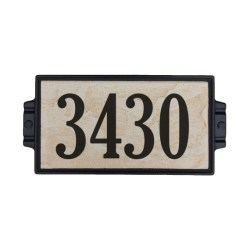 "6""x12"" Sandy Stone Address Plaque"