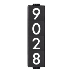 "6""x24"" Classic Black House Number Sign"