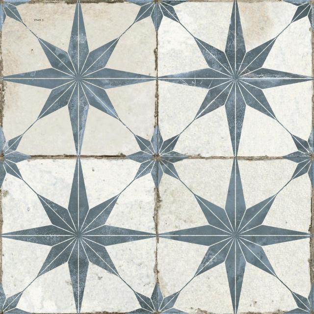 fs heritage star blue floor tile 450 x 450
