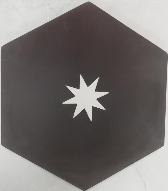 encaustic tile va hexagon handmade black white star encaustic tile 20cm x 23cm