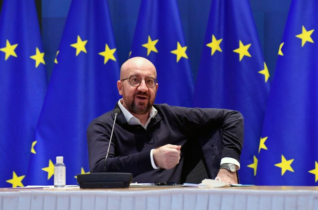 """Charles Michel said the UK was guilty of """"vaccine nationalism"""""""